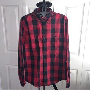 Express : Red Dress Shirt (L)